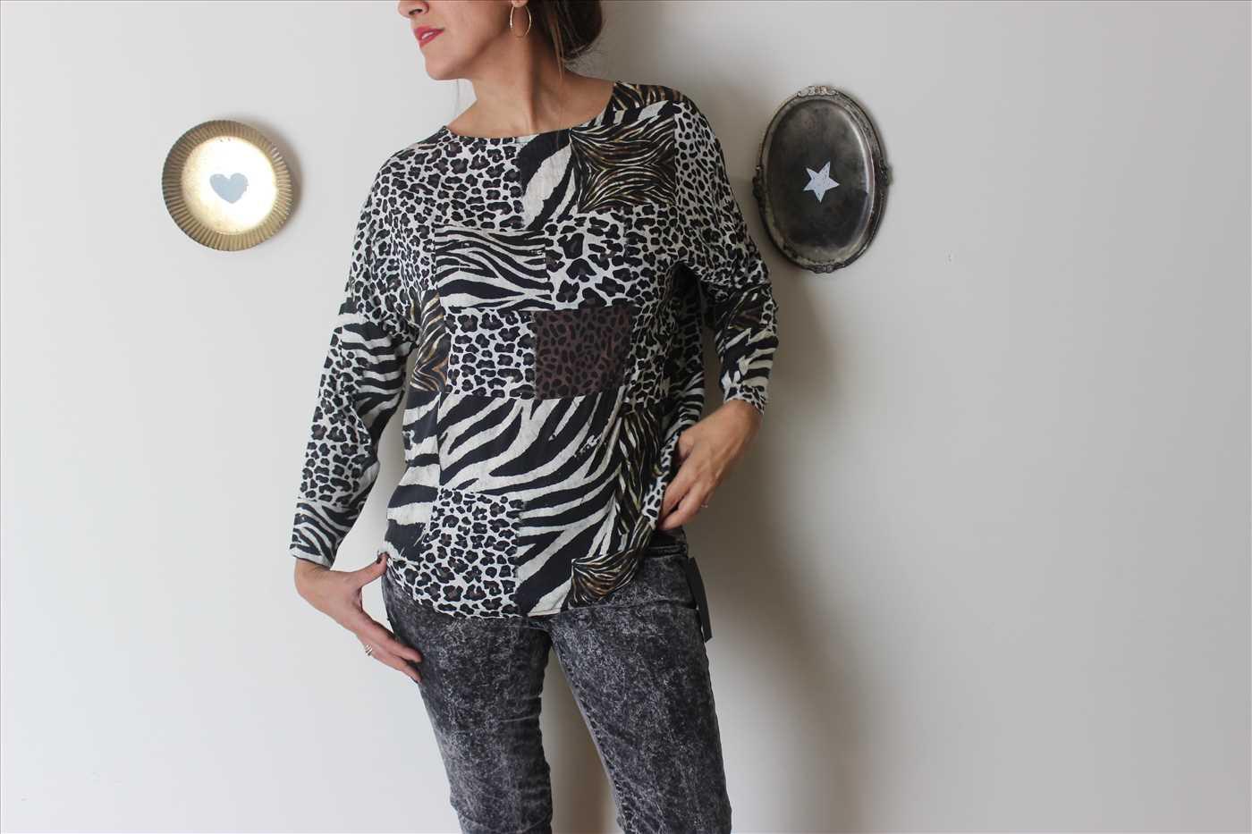 חולצת ג׳ונגל טלאים